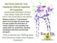 Matcha Green Tea 90 CAPSULES Organic 500mg Vegetarian
