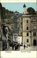 Salzburg Österreich 1908 Elektrischer Aufzug Lift Stadt Häuser Menschen Maschine