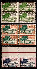 Nlle CALEDONIE 2 Blocs de 4 T. + 1 paire neufs  de 1928/1940 PR88
