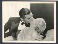 CLARK GABLE + CAROLE LOMBARD KISS -1932 NO MAN OF HER OWN - NOT A COUPLE AT TIME