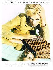 PUBLICITE ADVERTISING  1996   LOUIS VUITTON    la toile DAMIER