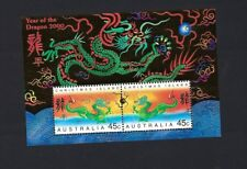 Australia 2000 China New Year Greeting of Dragon Zodiac stamp S/S