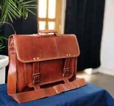 Vintage Handmade Real Leather Messenger Laptop Briefcase Sling Portfolio Bag
