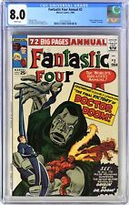 S439. FANTASTIC FOUR ANNUAL #2 CGC 8.0 VF (1964) Origin of DR. DOOM; WHITE Pages