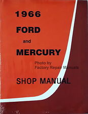1966 Ford Custom Galaxie Mercury Monterey Parklane Shop Service Repair Manual