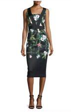 d0749d16833b2a Ted Baker London Black Kacied Secret Trellis Elastic Dress Size 0 (US 2)   315