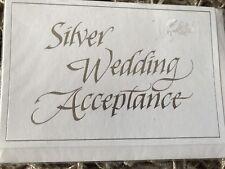 Silver Wedding Acceptance Card