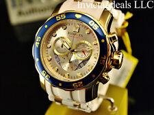 Invicta Men's Scuba Pro Diver Swiss Chrono 18K Gold Plated Champagne Dial Watch