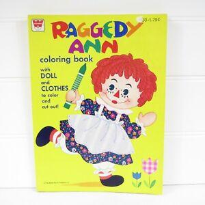 RAGGEDY ANN - VINTAGE 1975 WHITMAN COLORING BOOK - UNUSED