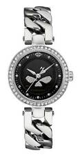 Harley-Davidson Women's Willie G Skull Crystal Embellished Watch, Silver 76L178