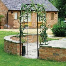 Arco da giardino in ferro decorativo - 240x140x38 cm - per piante rampicanti