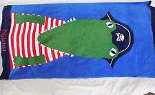 """Pottery Barn Kids Nantucket Alligator Beach Towel """"Nikhil"""" Nwot"""