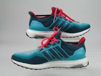 Adidas Ultra Boost 2.0 Mens Green Red Running Shoes Trainers UltraBOOST UK 8