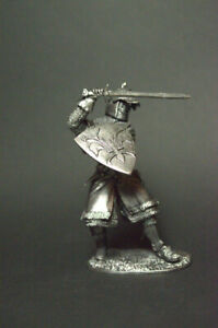 1/32 Tin soldier Knight in battle figure metal soldiers 54mm