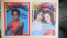 2 -DYNAMITE MAGAZINES GARY COLEMAN #65 1979 / SQUARE PEGS #105 1983