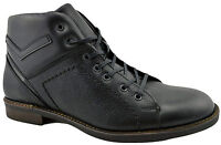 $200 REACTOR Black Calf Leather Ankle Boots Men Shoes