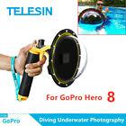 "TELESIN 6"" Dome Port Waterproof Case For GoPro Hero 8 Underwater Shooting US"