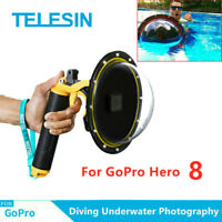 "TELESIN 6"" Dome Port Waterproof Case For GoPro Hero 8 Underwater Photograph US"