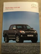 Toyota Hilux 3.0 D-4D Car Brochure - July 2006