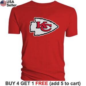Kansas City Chiefs T-Shirt Graphic Men Cotton Blend KC