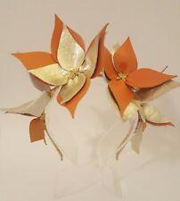 Gold & Orange Leather Crown, Headband,  Fascinator