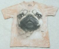 The Mountain Pug Logo Short Sleeve Crewneck Tee T-Shirt Top Woman's Size Small