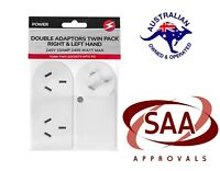 2 Pack Double Adapter Right & Left Slimline Twin Double Fits Side by Side 240V