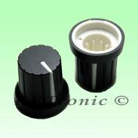 5 x Knob Black with White Mark for Potentiometer Pot 6mm Shaft Size