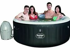 Bestway SaluSpa 71 x 26 inch Miami 4 Person Inflatable Jacuzzi Hot Tub Black NEW
