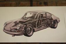 PORSCHE 911 S PVC grande lavoro Negozio Banner Garage CAR SHOW Banner
