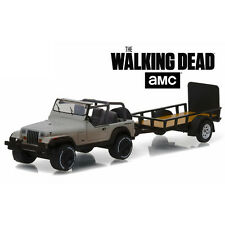 Greenlight The Walking Dead Michonne's Jeep Wrangler YJ and Trailer 1:64 32080-B