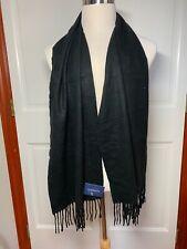 Croft & Barrow Dress Scarf w/ Fringe Solid Black - NEW