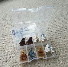 16 Lego Minifigure storage cases/boxes.  128 figure capacity