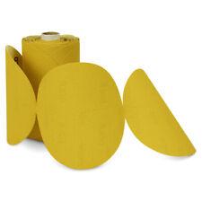 100 Pack 80 Grit 6 Inch Discs On A Roll Psa Gold Sticky Back Da Sanding Paper