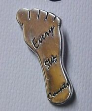 Life Awareness Foot Silver Plated Tac New Every Step Counts Lapel Pin Relay for