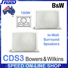 Bowers & Wilkins B&W CDS3 In-Wall Surround Speakers - White - (Pair)