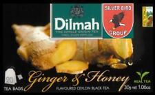 100 bustina del tè Dilmah Ginger & Honey flavoured black Fun Tea Ceylon Tè Express