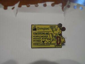 Disneyland Resort E-Ticket Global Lanyard Disney Trading Pin - D Ticket!