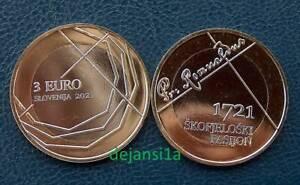 SLOVENIE 3 euro 2021: 300 ANS PASSION SKOFJA LOKA - 3€ bi-métale neuve (UNC)