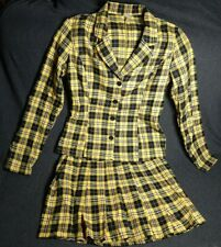Cher from Clueless Halloween Costume Yellow Plaid Women's Size M
