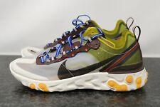 Nike React Element 87 Moss Black El Dorado AQ1090-300 Multiple Sz 10.5