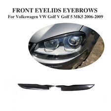 Carbon Fiber Headligh Eyelids Eyebrow for Volkswagen Golf 5 V Jett MK5 GTI 06-09