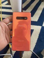 Samsung Galaxy S10 + Plus SM-G975U - 128GB - Orange (GSM Unlocked) (Single SIM)