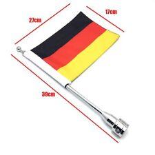 Motorrad Deutschland Flagge Fahne 39cm Fahnenmast mit Halterung für Harley Silbe