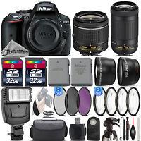 Nikon D5300 24.2MP Digital SLR Camera + 18-55mm VR + AF P 70-300mm VR - 64GB Kit