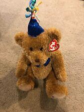 """Ty Beanie Buddies 2006 Party Happy Birthday Plush Stuffed Toy Animal Bear 15"""""""