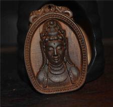 kalimantan agarwood statue necklace pendant tibet genuine kwan yin guan charm