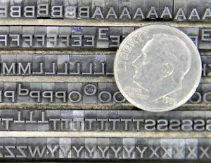 Alphabets Metal Letterpress Printing Type 6/12pt Copperplate Gothic Lt MN81  3#