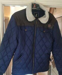 Kangol Padded Quilt Jacket Blue size XL