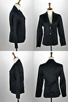 Women's Kenneth Cole Size 2 Black Business Casual Two Button Blazer Coat Jacket